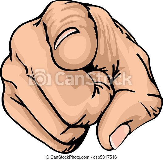 finger, zeigt - csp5317516