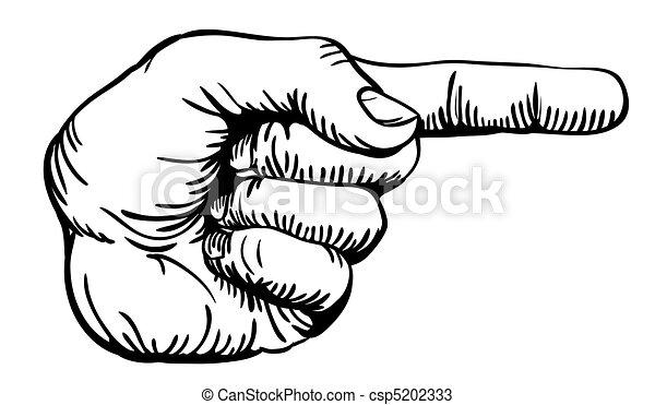 Mit dem Finger - csp5202333