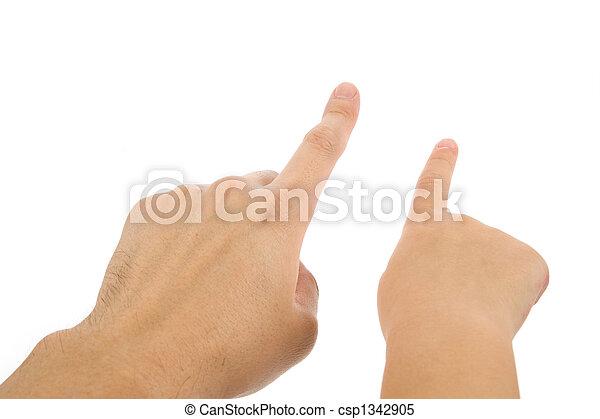 Finger zeigen - csp1342905