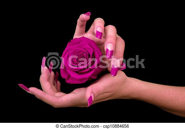 fingernagel, menschliche , finger, langer - csp10884656