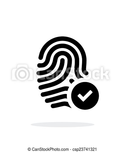 Fingerprint accepted icon on white background. - csp23741321
