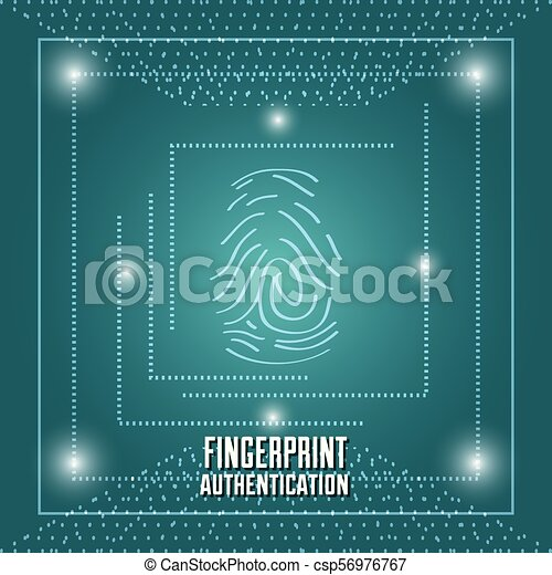fingerprint authentication digital technology connection - csp56976767