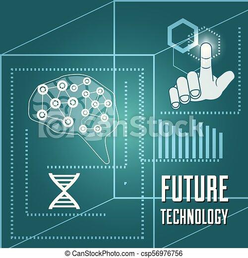 fingerprint authentication digital technology connection - csp56976756