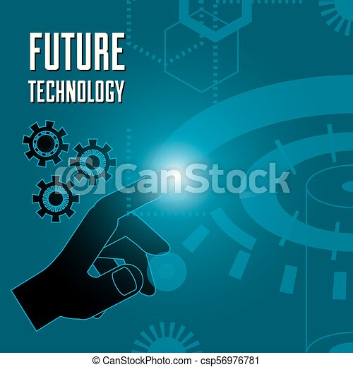 fingerprint authentication digital technology connection - csp56976781
