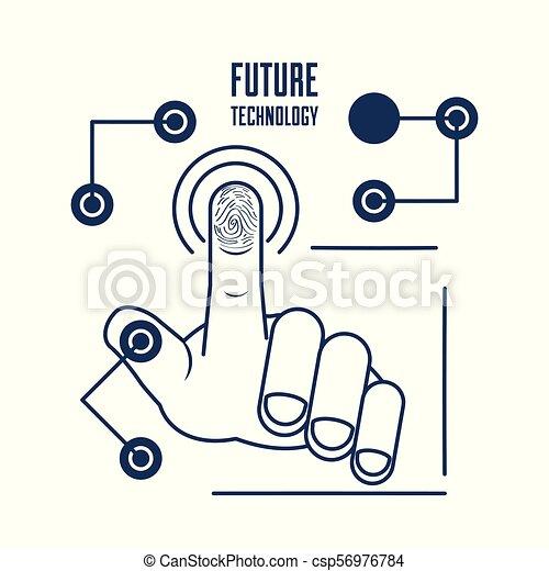 fingerprint authentication digital technology connection - csp56976784