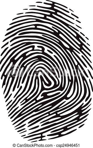 fingerprint vector black isolated fingerprint on white background rh canstockphoto com fingerprint vector art free clean fingerprint vector art free clean