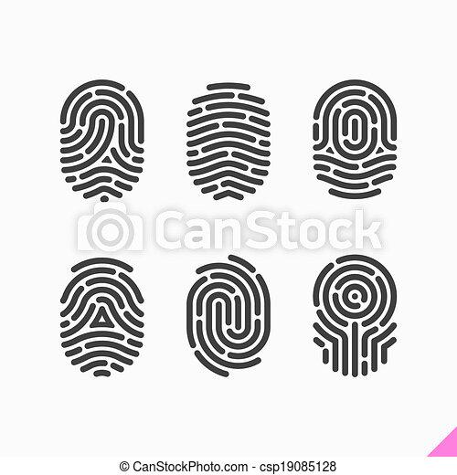 Fingerprint icons set - csp19085128