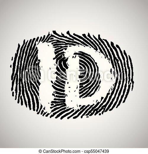 Fingerprint Illustration With Id Vector