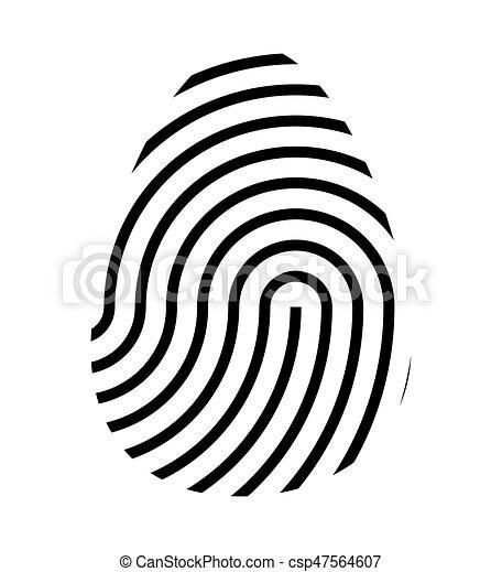 fingerprint logo vector symbol icon design beautiful vector rh canstockphoto com fingerprinting victoria fingerprint vector art free clean