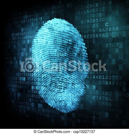 Fingerprint on digital screen - csp10227137