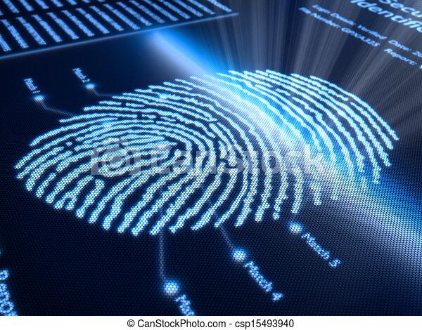 Fingerprint on pixellated screen - csp15493940