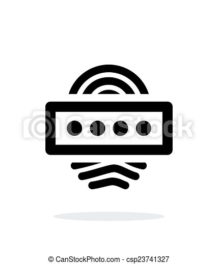 Fingerprint password icon on white background. - csp23741327