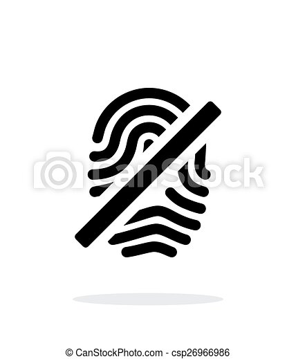 Fingerprint rejected icon on white background. - csp26966986