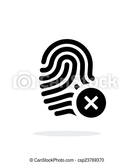 Fingerprint rejected icon on white background. - csp23769370