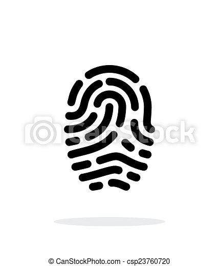 Fingerprint scanner icon on white background. - csp23760720