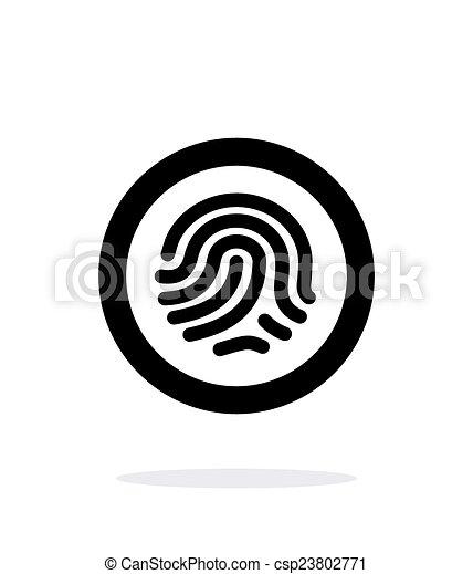 Fingerprint scanner icon on white background. - csp23802771