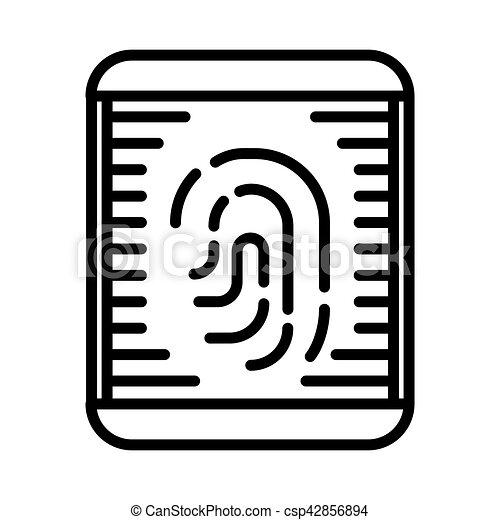 fingerprint scanning illustration design - csp42856894