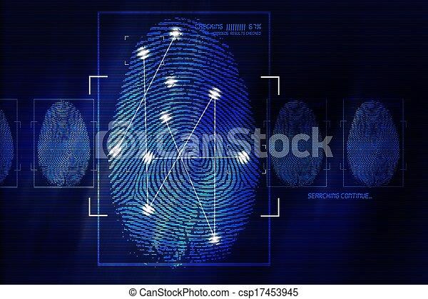 Fingerprint Scanning Technology - csp17453945