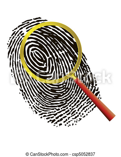 Fingerprint under a magnifier - csp5052837