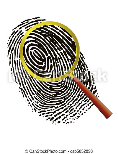 Fingerprint under a magnifier - csp5052838
