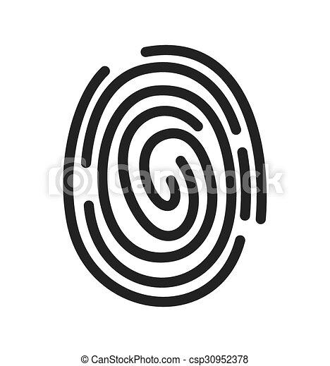 fingerprint vector icon vectors illustration search clipart rh canstockphoto com fingerprinting victoria fingerprint vector free download