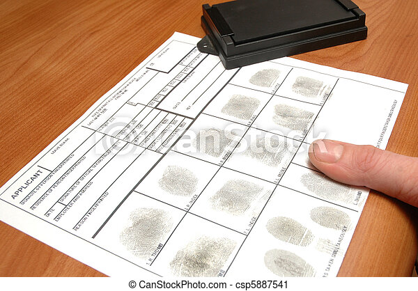 Fingerprints on ID card - csp5887541