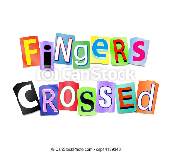 Fingers crossed. - csp14139348