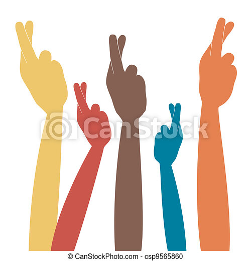 fingers crossed illustrations and clip art 1 599 fingers crossed rh canstockphoto com