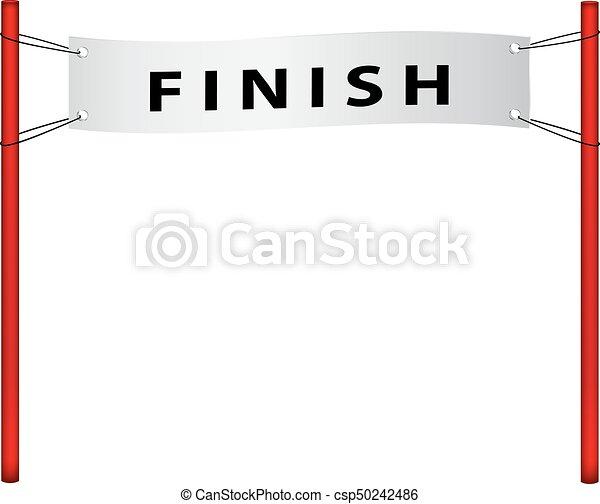 Finish flag in retro design - csp50242486