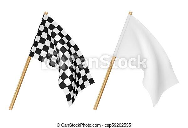 Finish flags isolated on a white background - csp59202535