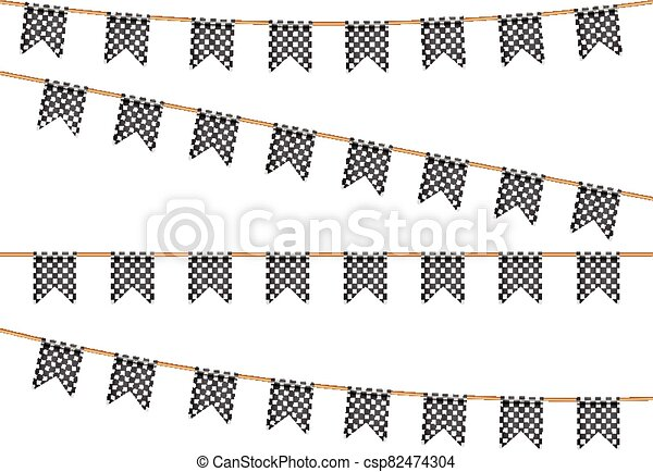Finish flags on wash line - csp82474304
