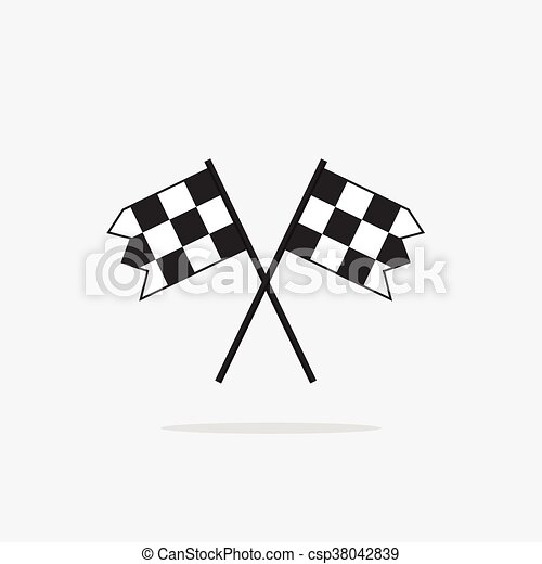 Finish flags vector icon isolated on white background - csp38042839