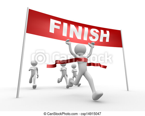 Crossing the Finish Line Clip Art