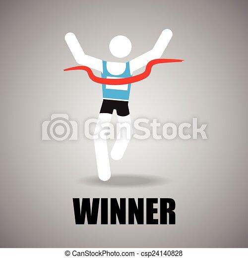finish line icon - csp24140828