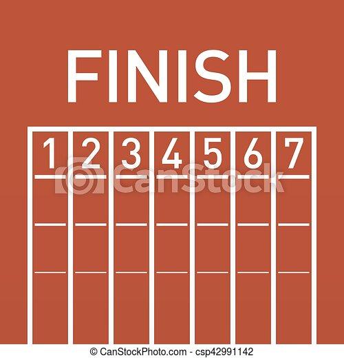 Finish line on running - csp42991142