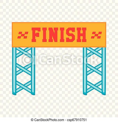 Finish race gate icon, cartoon style - csp67910751