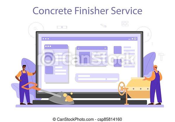 finisher, construtor, online, serviço, platform., concreto, ou - csp85814160
