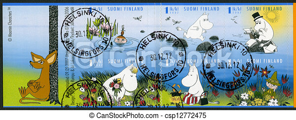 FINLAND - 2007: shows Moomin characters - csp12772475