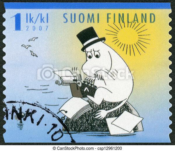 FINLAND - 2007: shows Moominpappa, Moomin characters - csp12961200