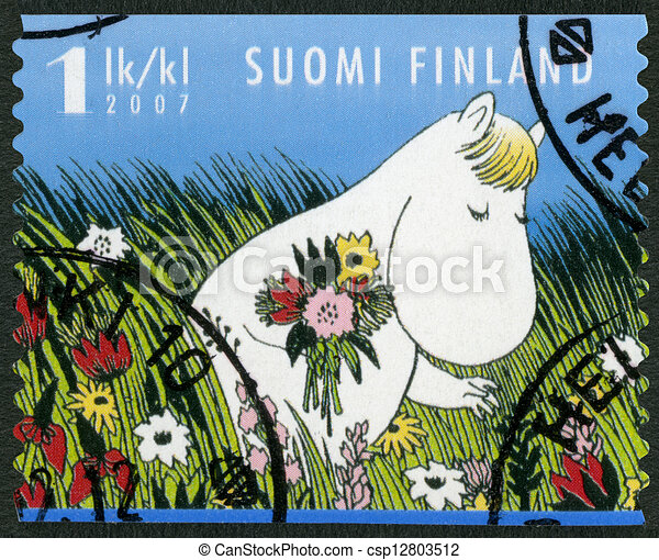 FINLAND - 2007: shows Snork Maiden, Moomin characters - csp12803512