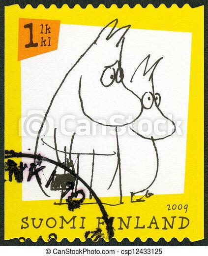 FINLAND - 2009: shows Moomin characters - csp12433125