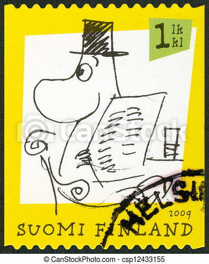 FINLAND - 2009: shows Moomin characters - csp12433155