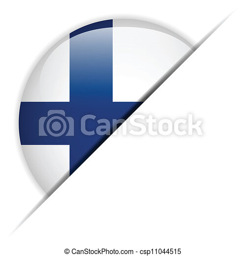 Finland Flag Glossy Button - csp11044515