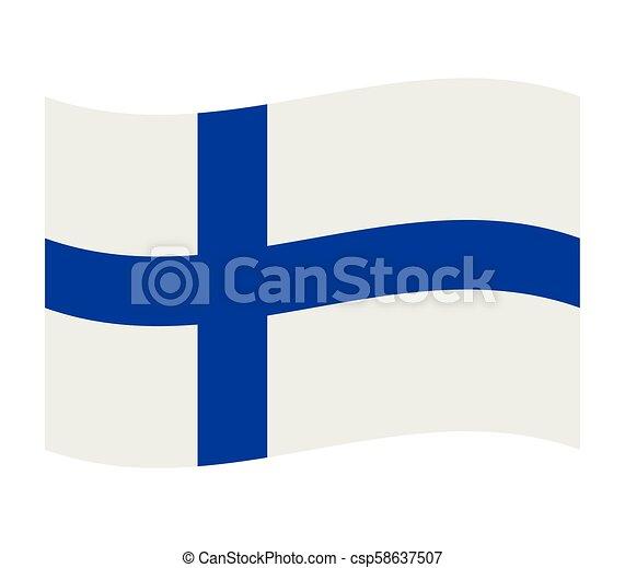 Finland flag - csp58637507