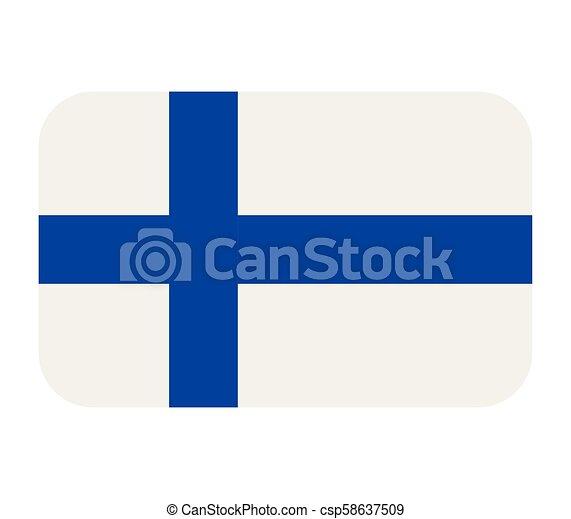 Finland flag - csp58637509