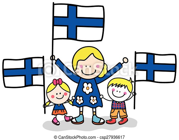 Finland kids and mom - csp27936617