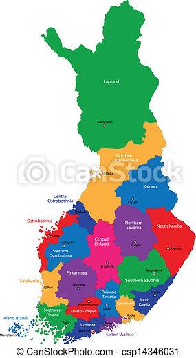 Finland map - csp14346031