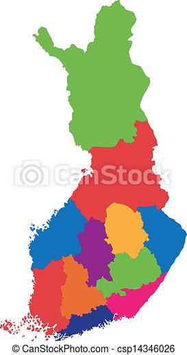Finland map - csp14346026