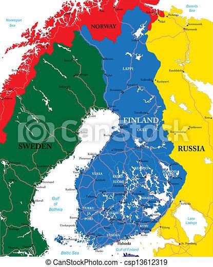Finland map - csp13612319