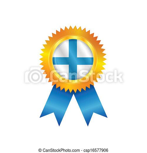 Finland medal flag - csp16577906